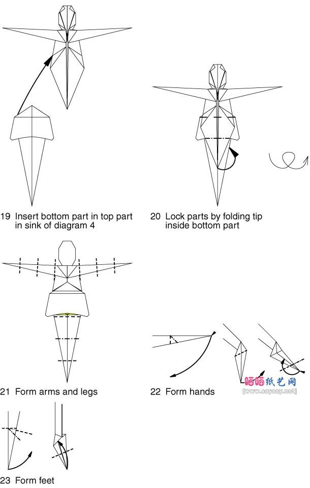 how to make a girl with origami paper