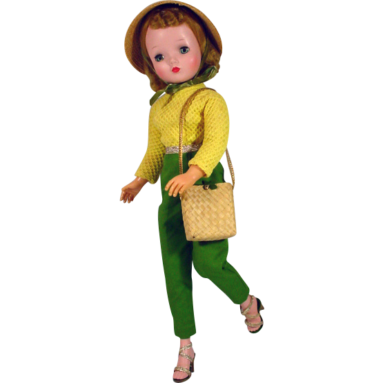 Madame Alexander Cissy Doll in Tagged Pants Outfit, 1957