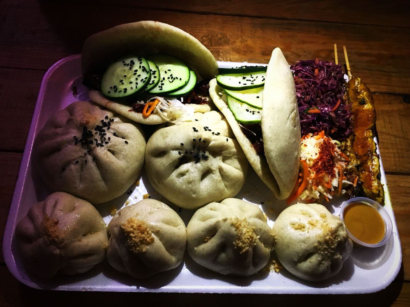 Bao bao... Bollos de vegetales, hamburguesa Chin... Los Mochis ...