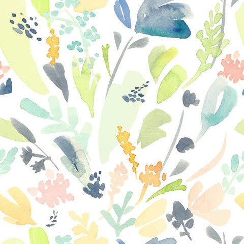 Wallpaper Blue Flower Pattern Peel and Stick Self Adhesive Decora Home Vinyl