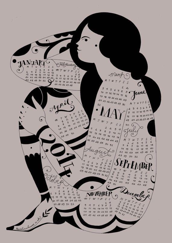 LOVE LOVE LOVE x Wall Calendar 2014 by KarolinSchnoor #