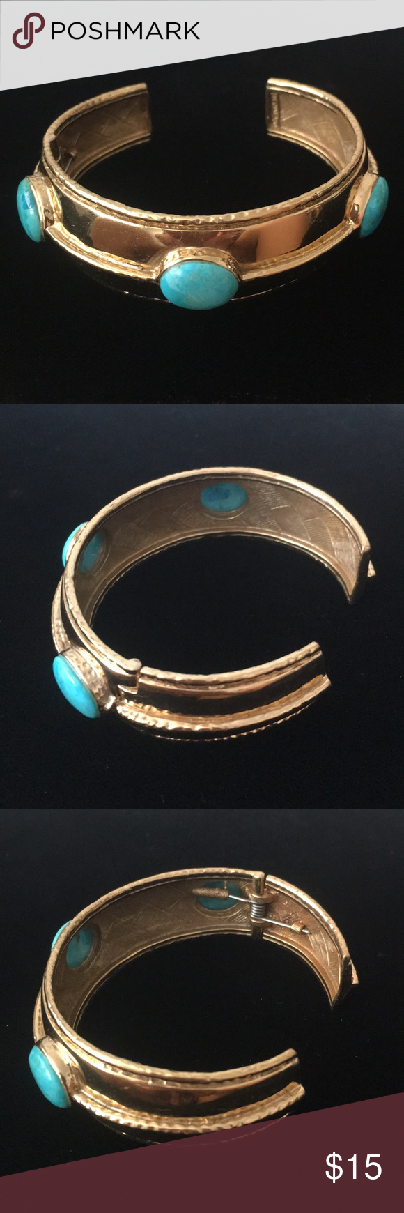 Vintage gold tone with Turquoise stone