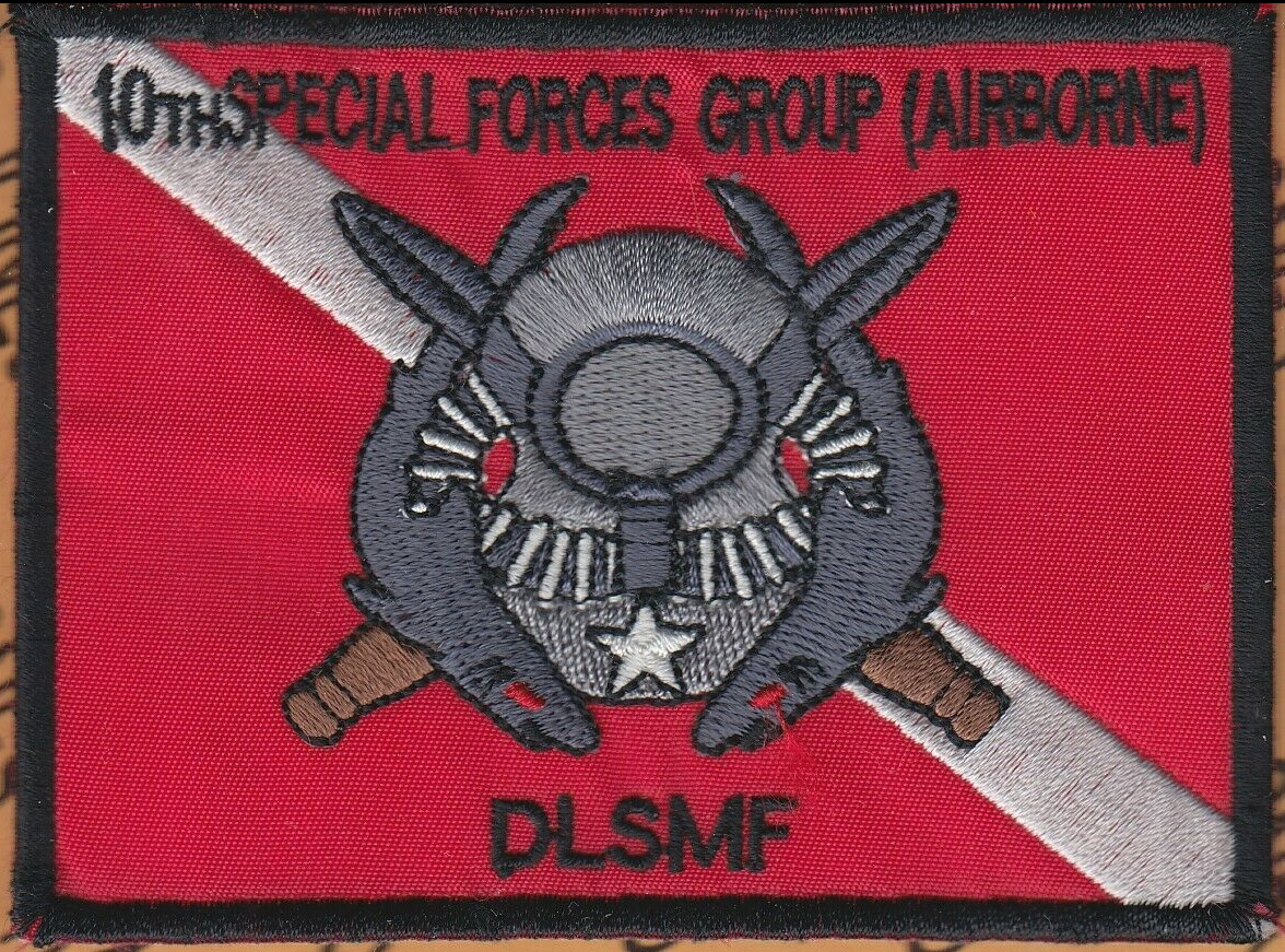 """10th Special Forces Group Airborne SFGA ODA Maritime DLSMF 4/"""" pocket patch"""