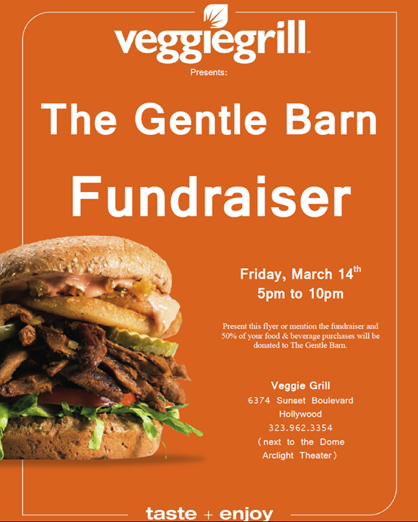 Gentle Barn Fundraiser at The Veggie Grill <3 #MyVeganJournal