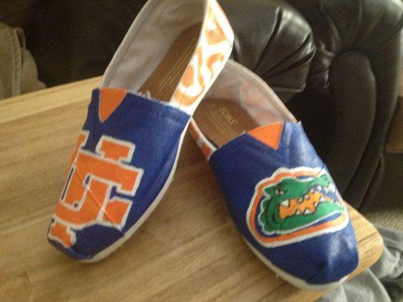 0c2faddef521 University of Florida Gators Custom Painted Toms Shoes on Etsy ...