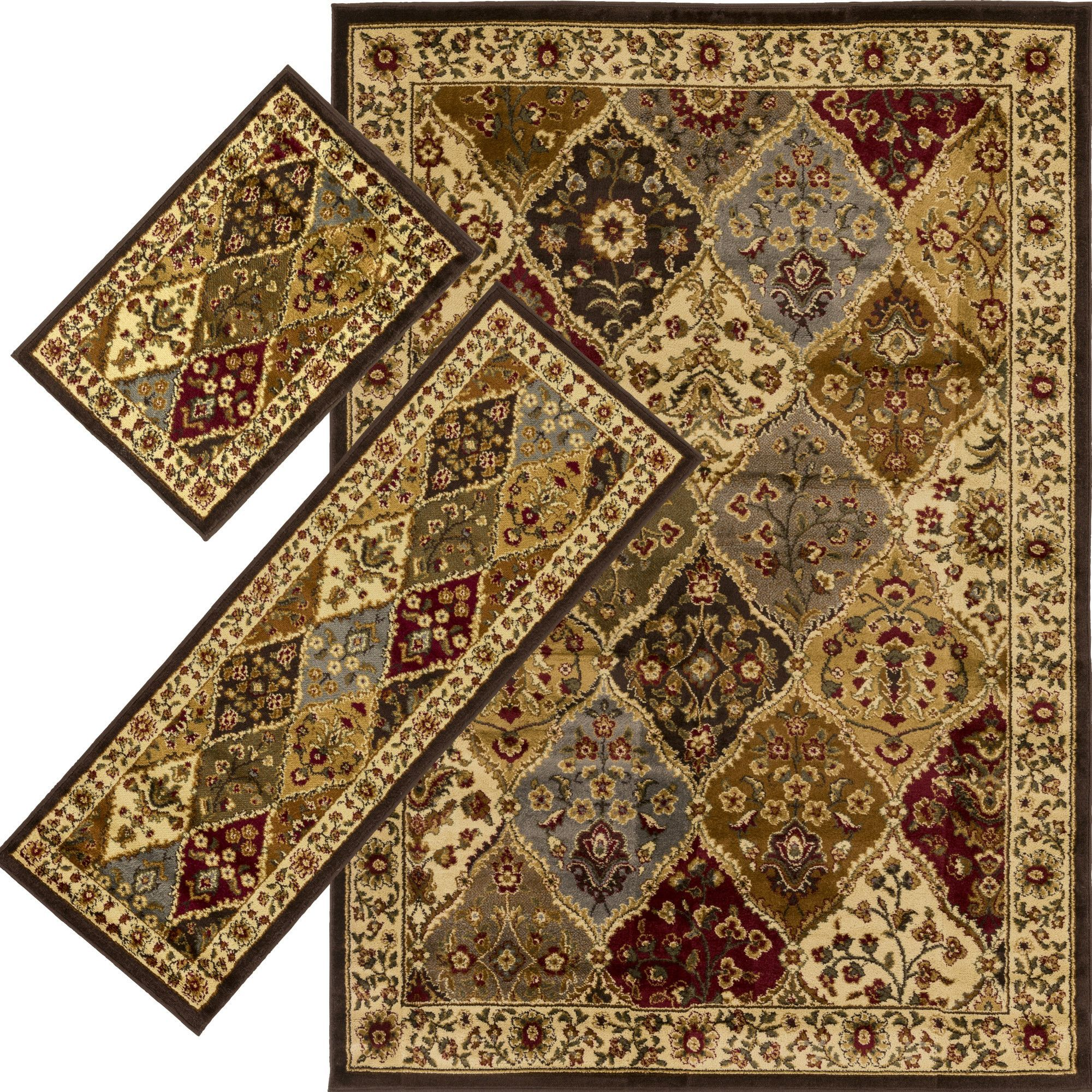 Massango 3 Piece Multi Area Rug Set