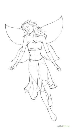 How to draw fairies in 8 steps click my drawing page to see the other steps
