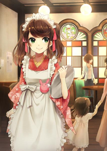 ANIME ART meido. . .meido cafe. . .maid waitress