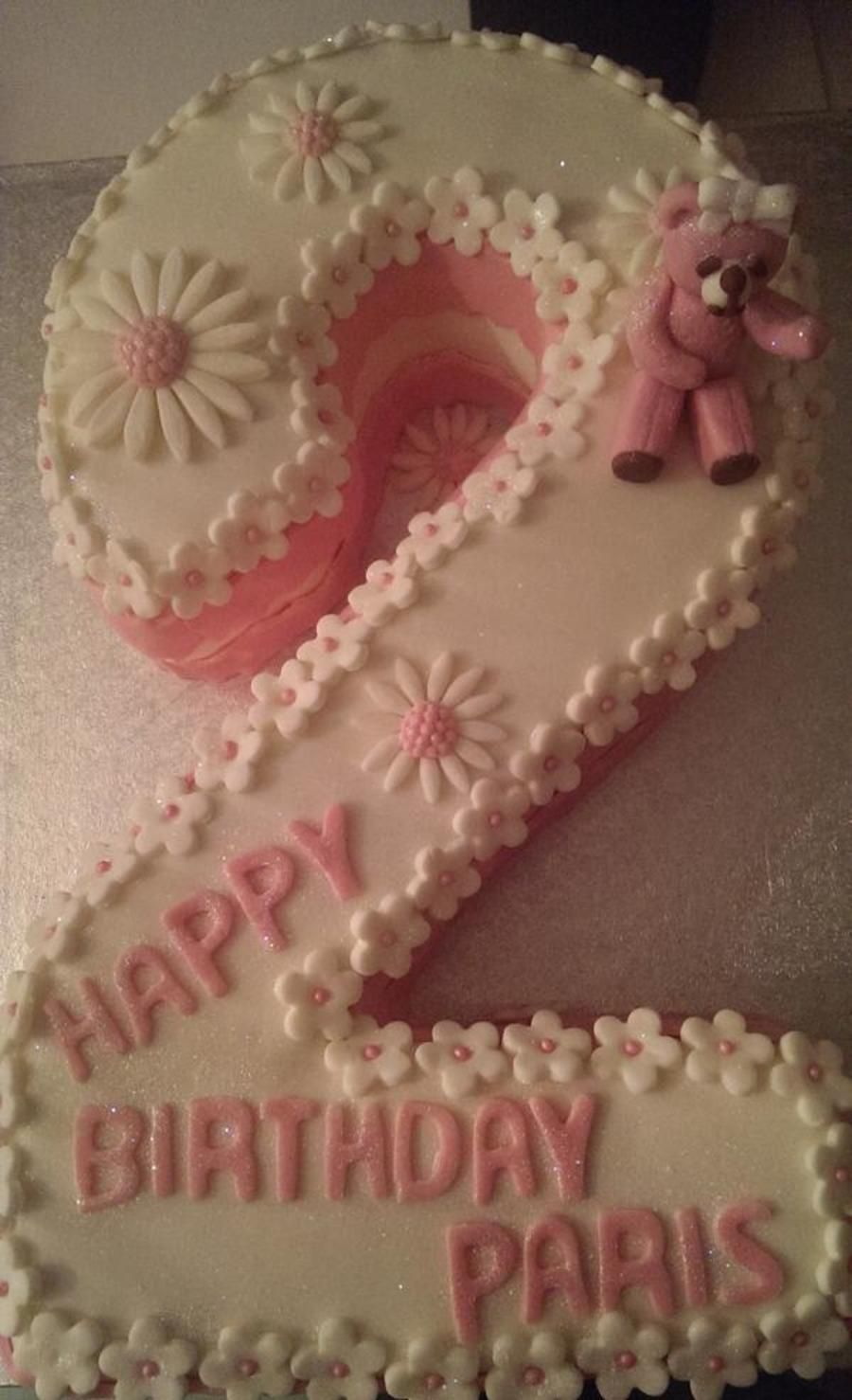Number 2 Cake 2nd Birthday Cake Girl Minnie Mouse Birthday