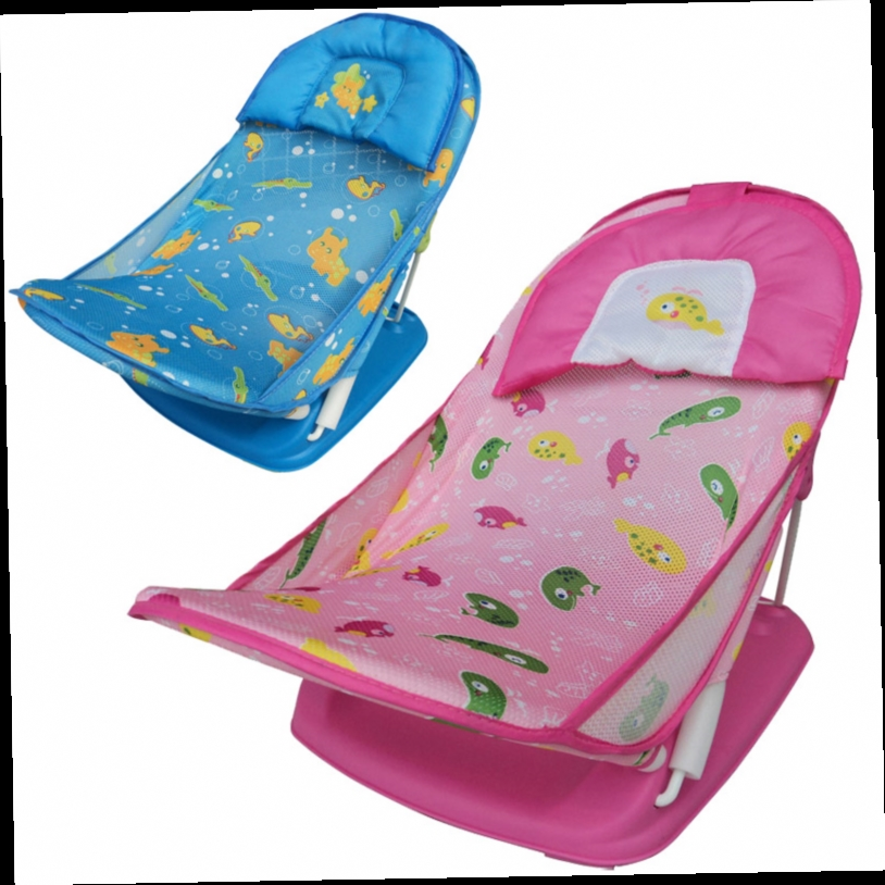 48.00$  Watch here - http://alivqr.worldwells.pw/go.php?t=1622526773 - Retail infant/Baby quality folding slip-resistant Wash Chair with Soft Mesh/ Deluxe Newborn Baby Bather/ bath rack /shower chair