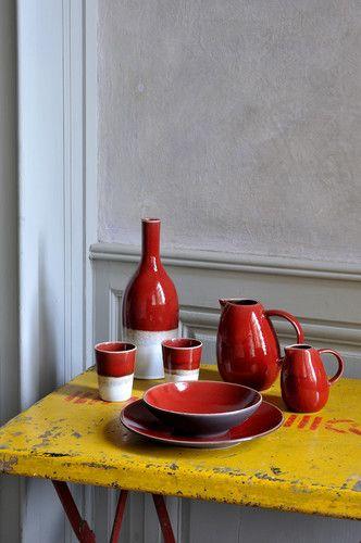 Das Bunte Geschirr Tourron In Der Farbe Cerise Von Jars Ceramistes