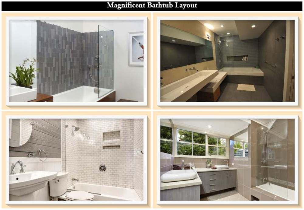 Photo of Sleek lines and minimal interior design make modern main bathrooms a place of calm and serenity.