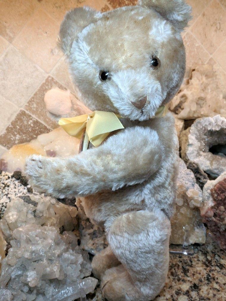 Vintage 1950s 1960s Mohair Teddy Bear German Anton Kiesewetter Petz Teddy Bear Mohair Teddy Bear Vintage Teddy Bears Antique Teddy Bears