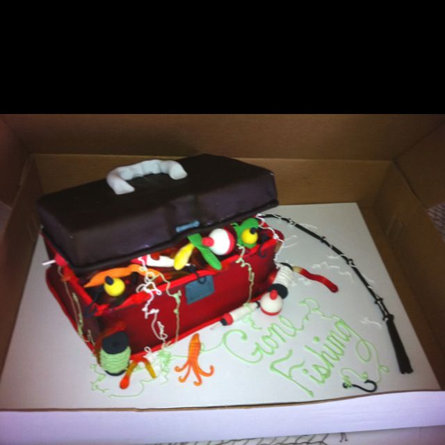 Grooms cake. Tackle box.