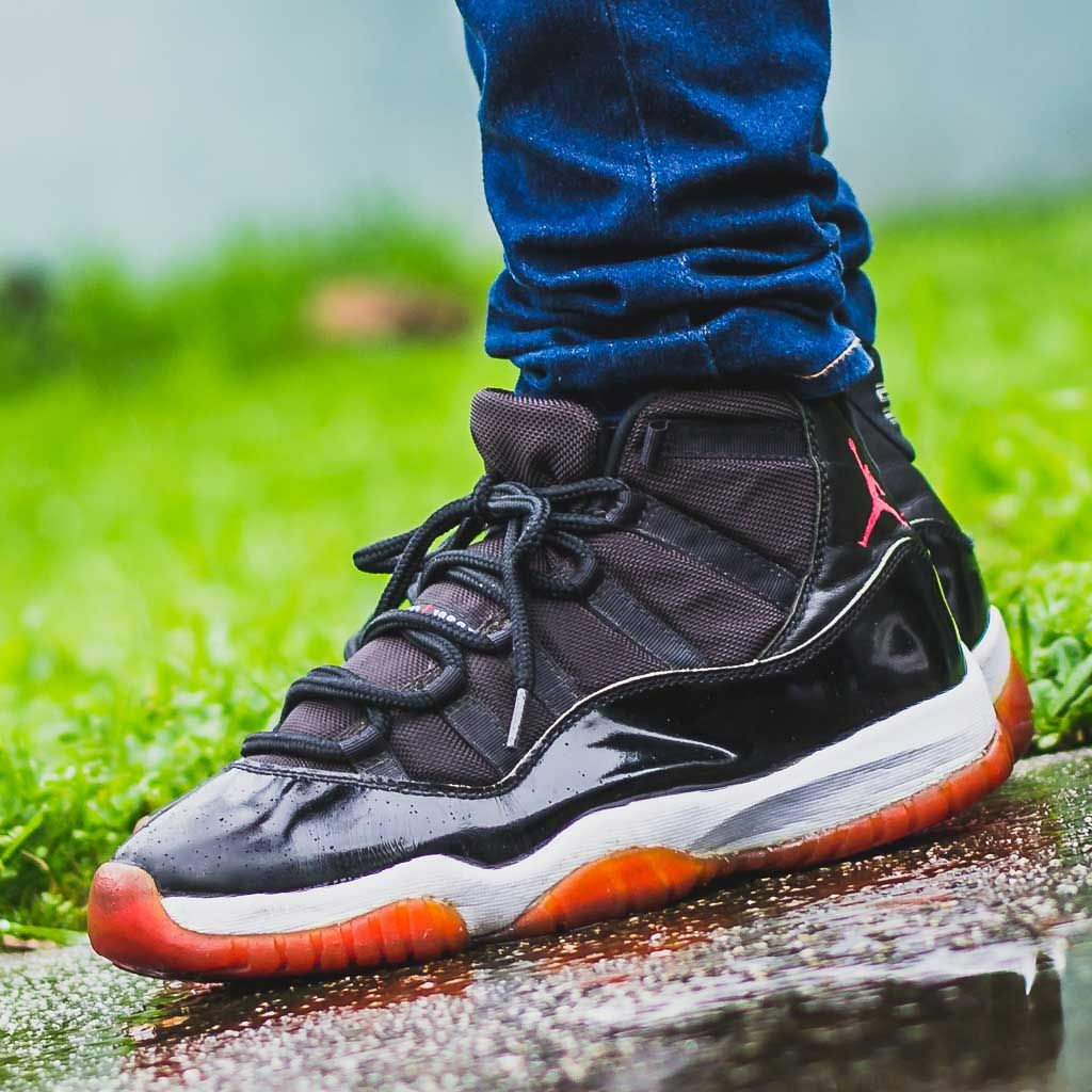 Og Air Jordan 11 Bred On Feet Sneaker Review 1996 Classic
