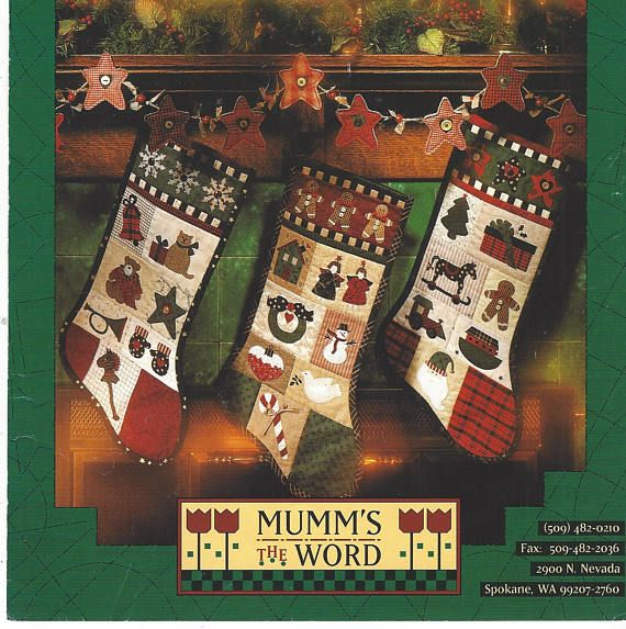 90s Christmas Background.90s Mumm S The Word Appliqued And Quilted Christmas Stockings