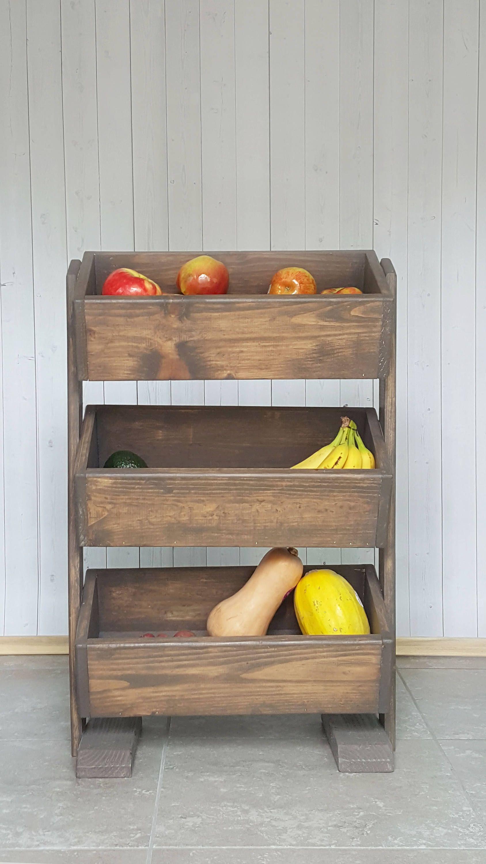Kitchen Decor Wood Vegetable Bin Wood Potato Bin Produce Stand Vegetable Storage Vegetable Bin Kitchen Decor Etsy Kitchen Decor Vegetables Vegetable Bin