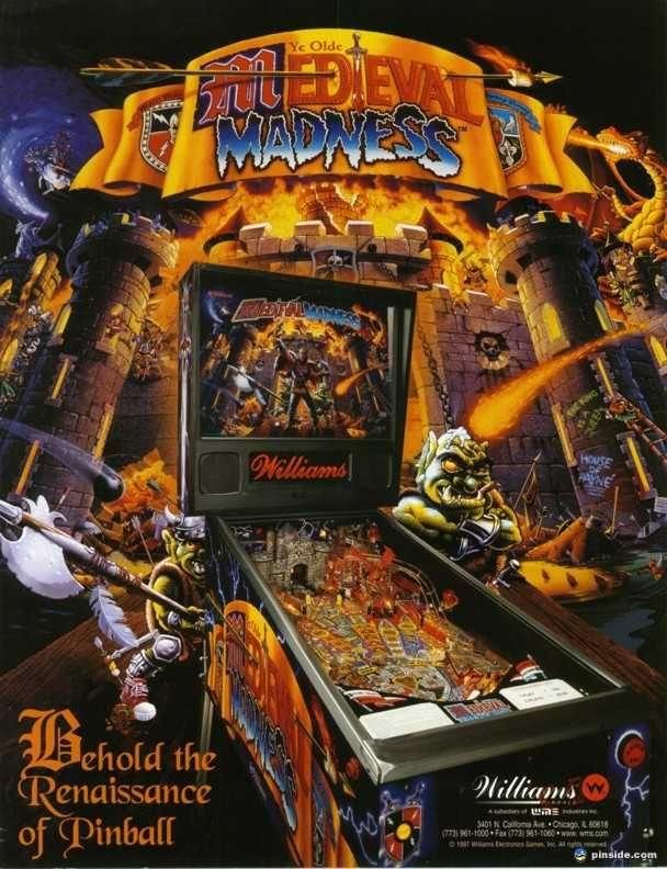 Medieval Madness Pinball Machine (Williams, 1997) - Pinside