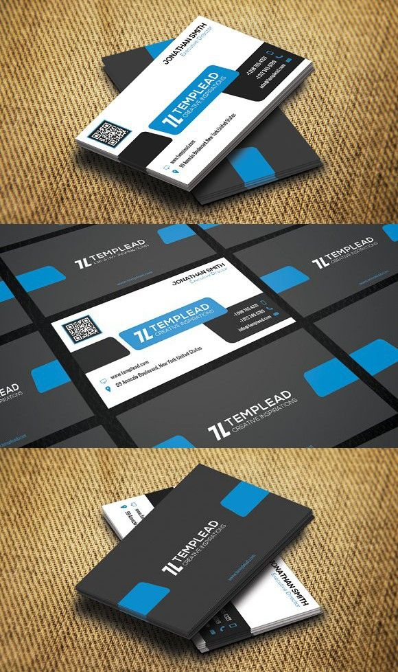 Corporate Business Card SE0213 | Corporate business, Business cards ...