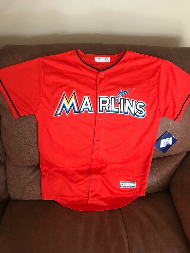 online store fcabb bd3be Details about Majestic Miami Marlins Giancarlo Stanton #27 ...