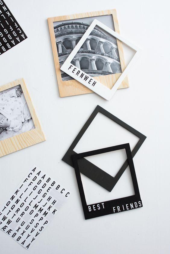 Scrapbooking - DIY Fotoalbum Ideen für eure Urlaubsbilder & Familienfotos #scrapbook Scrapbooking - DIY Fotoalbum Ideen - Polaroidrahmen #photosites