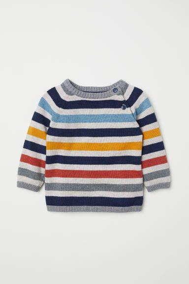 Fine Knit Cotton Sweater Baby Boy Winter Clothes Cotton Jumper