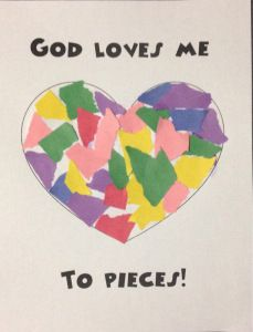God Loves Me To Pieces! Free printable, God's love, Sunday