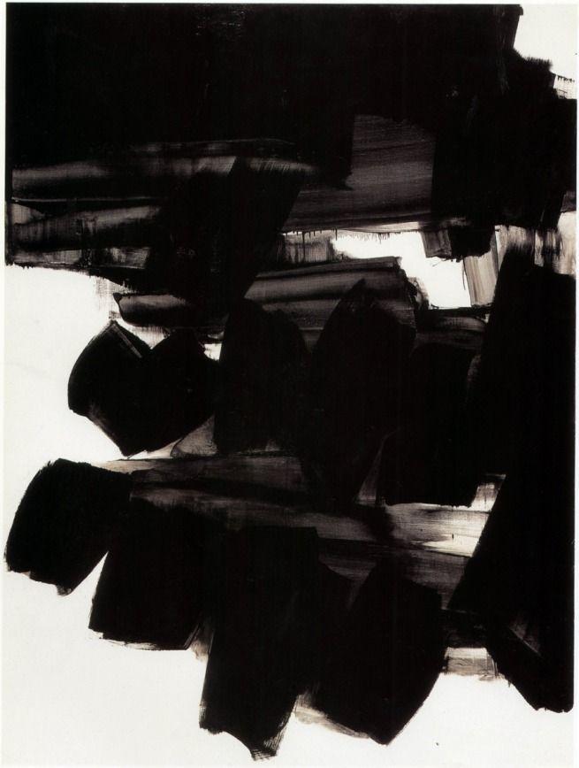 Soulages también es conocido como «el pintor del negro» debido a su interés en el color («Al mismo tiempo es un color y un no-color. Cuando la luz se refleja en el negro, lo transforma y transmuta. Ve en la luz una materia con la que trabajar; estriando la superficie negra de sus cuadros le permite hacer que la luz se refleje, permitiendo que salga el negro de la oscuridad hacia la luz, convirtiéndose entonces en un color luminoso.