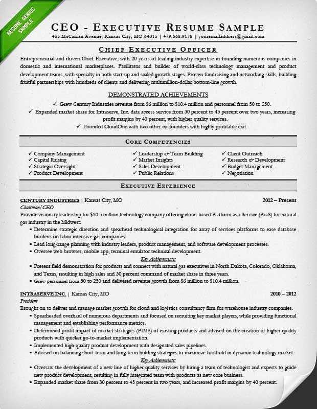 sample executive resume for a CEO resume Pinterest Executive