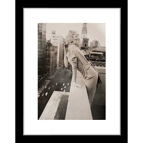buy getty images gallery marilyn monroe on roof framed print 57 x 50cm online at