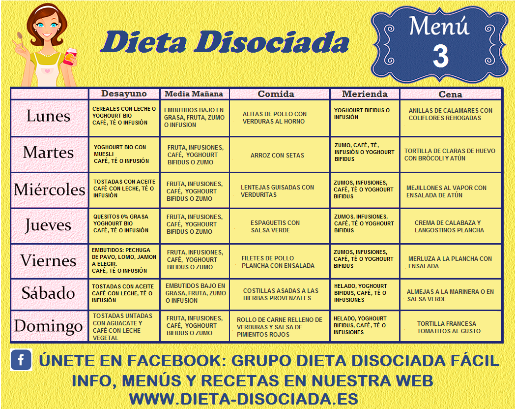 menu folleto de 1700 calorias