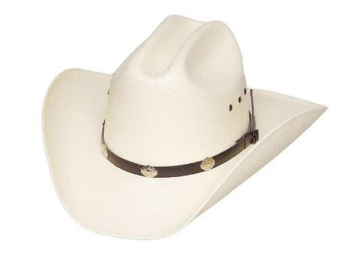 Classic Cattleman Straw Cowboy Hat With Silver Conchos Cowboy Hats Straw Cowboy Hat Hats For Men