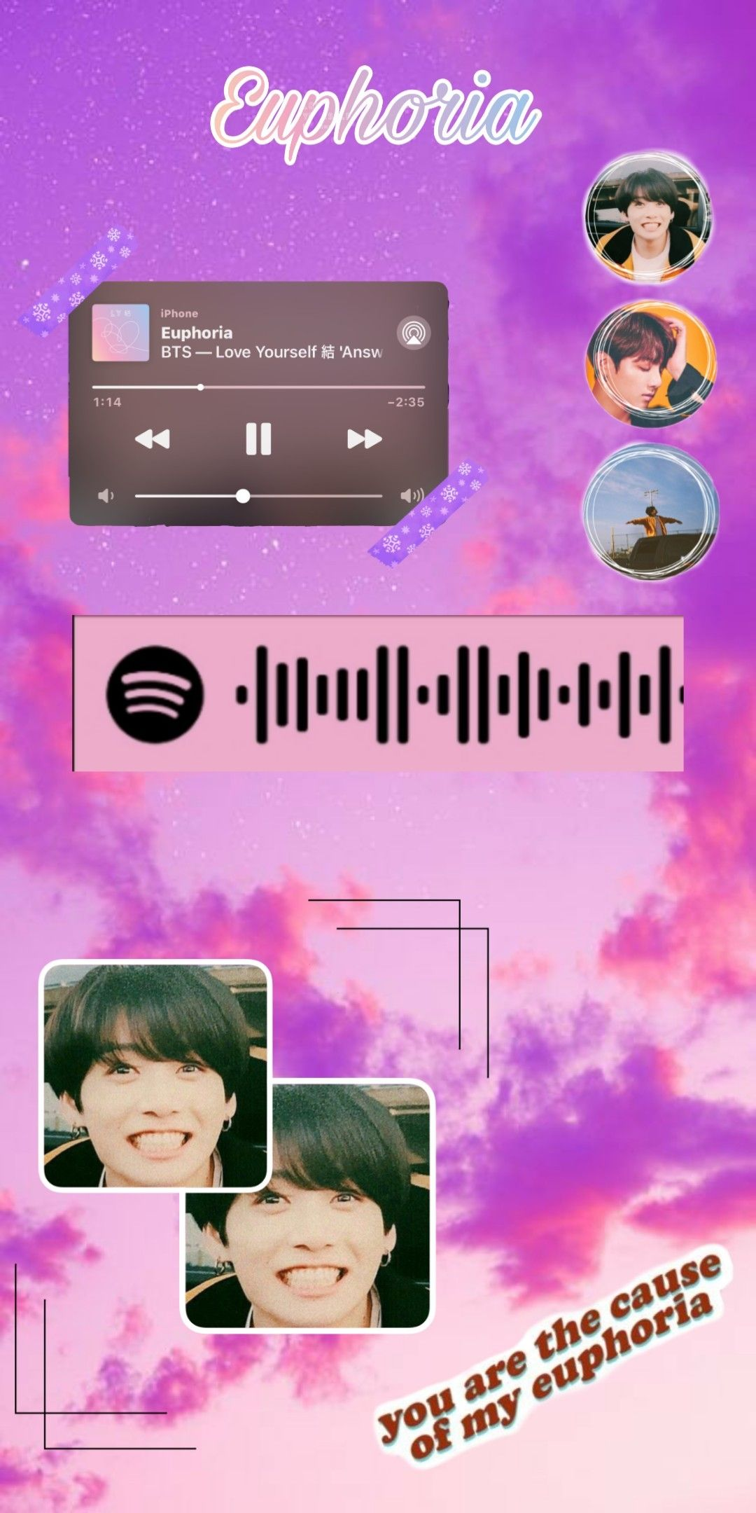 Helawww i make this aesthetic euphoria with the spotify