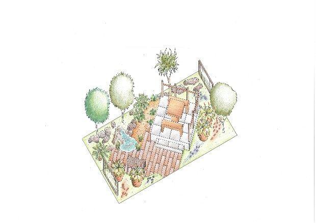 Garden 1- Fynbos Garden #LifestyleCollege#Landscaping#Axonometric#ShowGardens2016#MohammedRiazRagooloo#KerryAnneStead#BrendonDelport