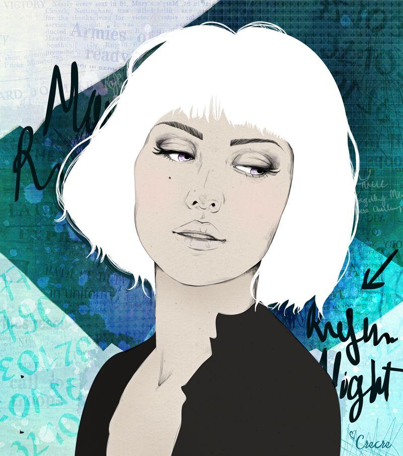 Crecre illustration reflexion dessin fille triste blog fashion illustrations portraits - Dessin triste ...