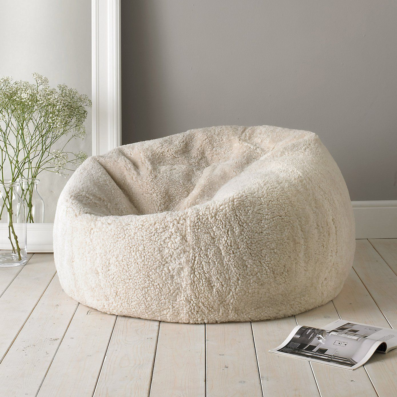 Fabulous Sheepskin Beanbag The White Company Once You Sink Into Ncnpc Chair Design For Home Ncnpcorg