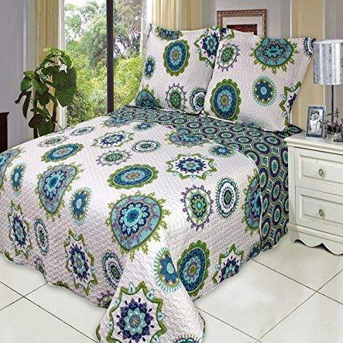 Julia Cool California King Size Over Sized Quilt 3pc Set Luxury