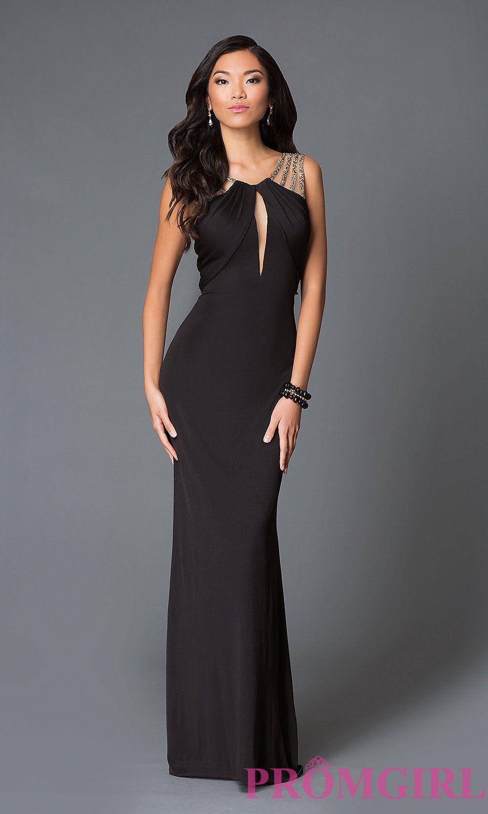 42b0ad1cffd9 Image of long open back black sleeveless dress Style: LF-AV-0839 | Black