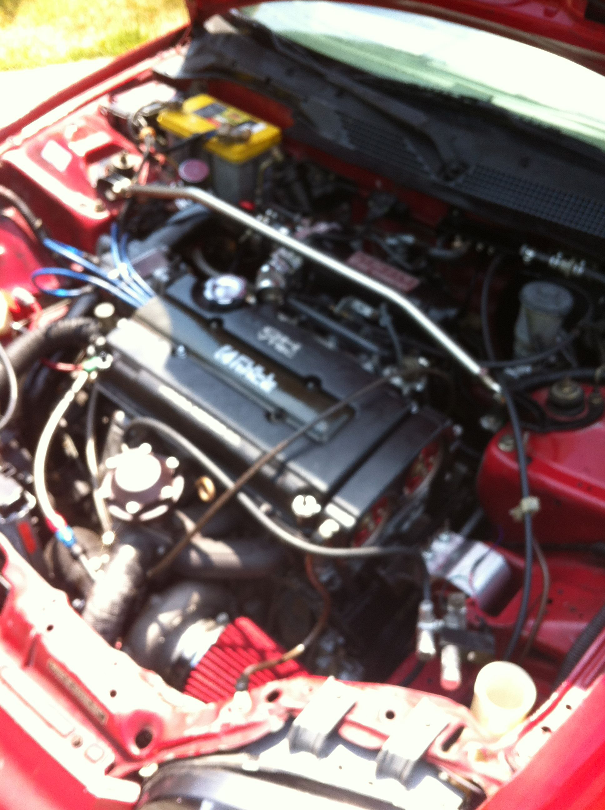 After Second Rebuild On My Sons Ls Vtec With A 70 Mm Turbo 12 Lbs Of Boost Soooooo Fast