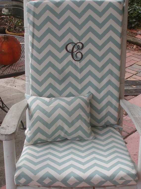 Nursery or Indoor Outdoor Custom Rocking Chair Cushions and Pillow