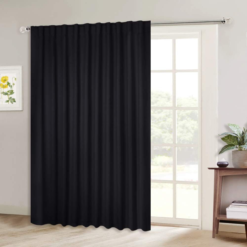 Amazon Com Nicetown Blackout Curtain For Sliding Door Patio Door Curtains Thermal Insulated Wide Drapes Drap With Images Curtains Sliding Door Blinds Insulated Curtains