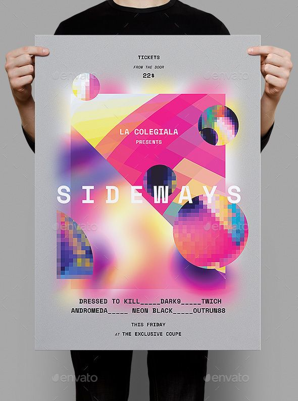 Sideways Poster / Flyer | Flyer Template, Graphic Design Templates