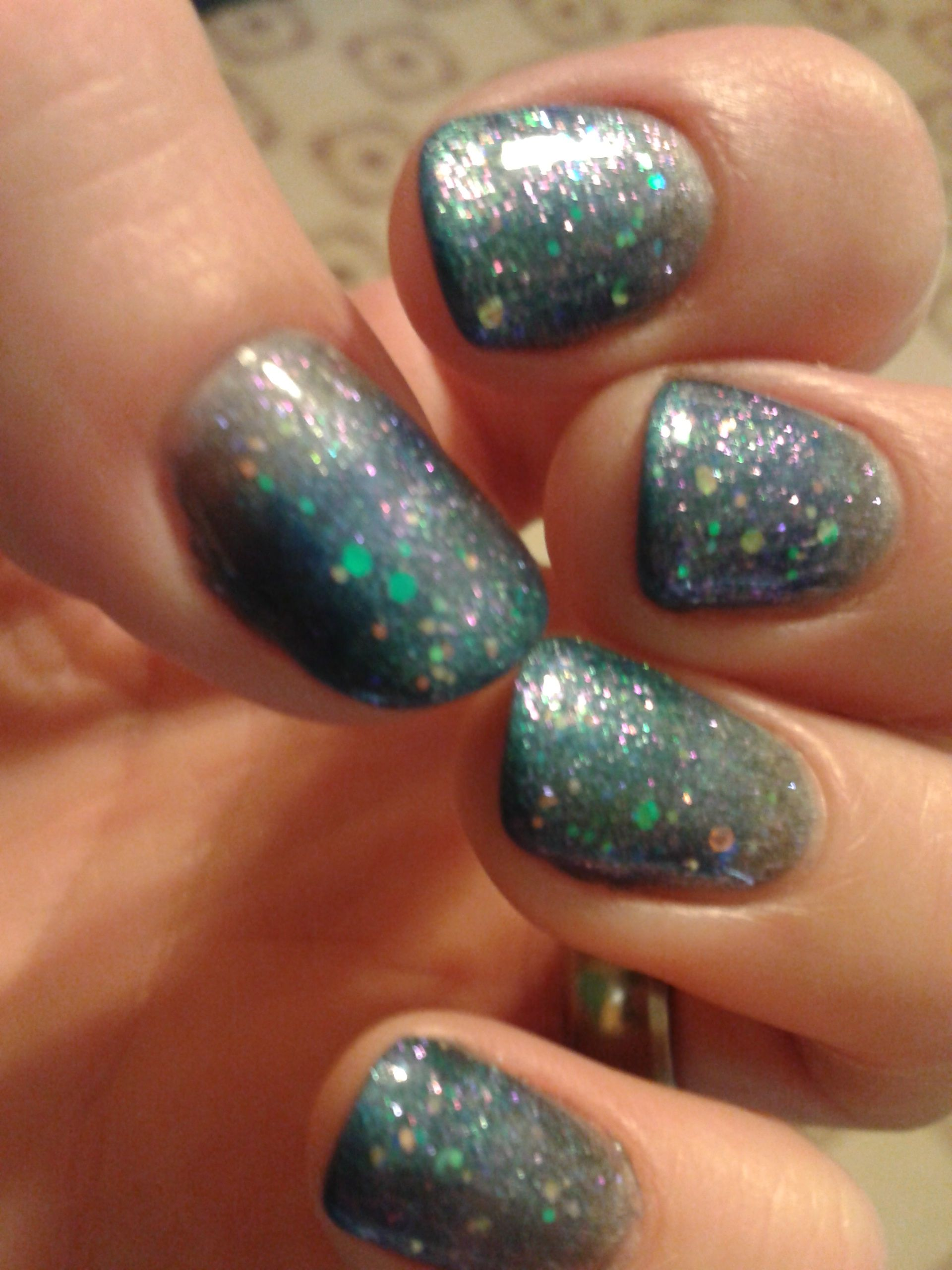 Gelish soak off gel nail polish, Midnight caller fade with mixture ...