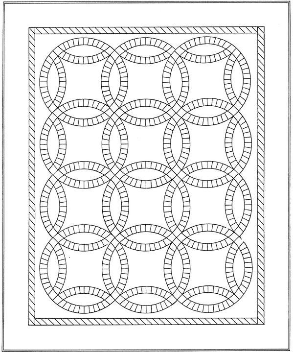 Wedding Ring Design Wedding Ring Quilt Coloring Pages To Print Quilts