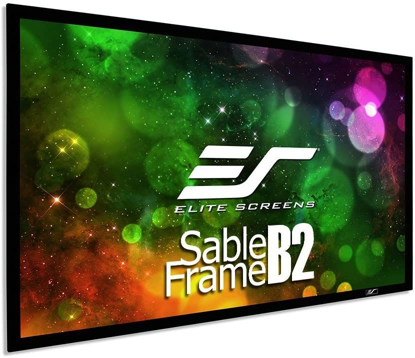 Elite Screens Sable Frame B2 120 Inch Diag 16 9 Active 3d 4k 8k Ultra Hd Fixed Frame In 2020 120 Inch Projector Screen Projector Screen Home Theater Projectors