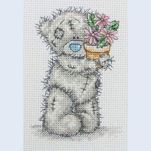 Pink Flower Pot - Me To You - Tatty Teddy - counted cross stitch kit Coats Crafts