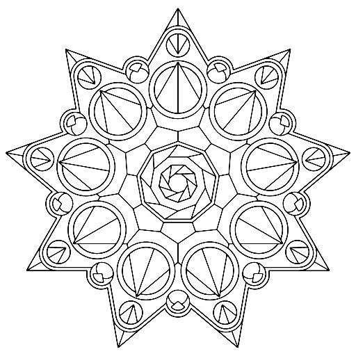 Art therapy | Outlines & Stencils | Geometric coloring ...