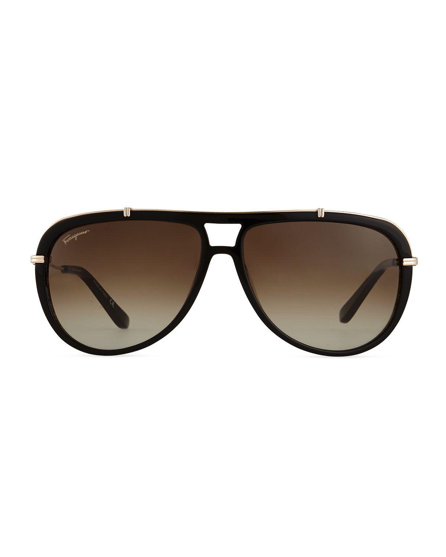 b4524eb6b32 Gladiator Metal Acetate Sunglasses