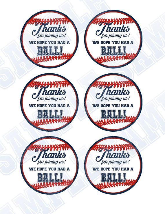 photograph about Free Printable Baseball Tags named 15 Baseball Boy or girl Shower Printables Little one Shower Programs