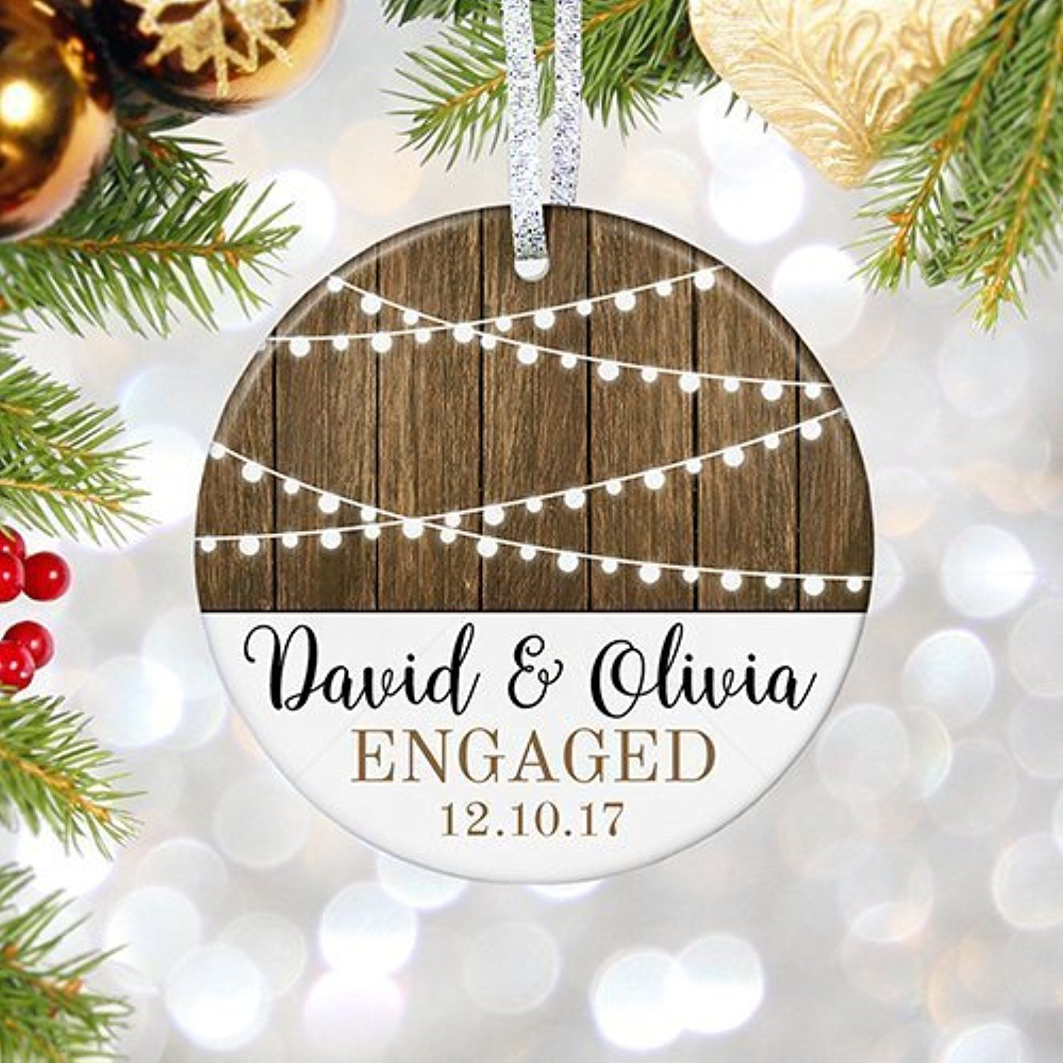 Personalized Wedding Christmas Ornament Our By Divinestampings I Want This With Images Wedding Christmas Ornaments Christmas Ornaments Personalized Wedding